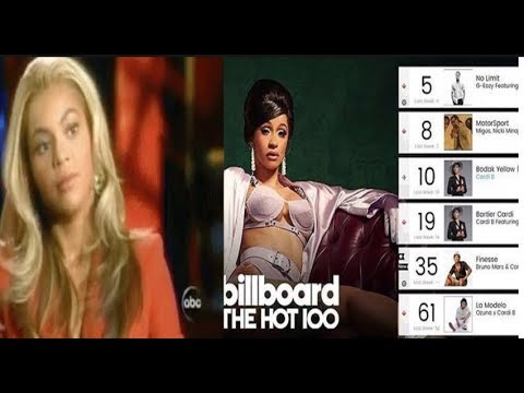 Xxx Mp4 Cardi B OVER TOPS Beyonce To Become The 1st Woman With 5 Hits In The Top 10 R B Hip Hop Chart 3gp Sex