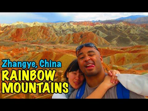 China's Danxia Landform Rainbow Mountains in Zhangye Danxia Geological Park | Don's ESL Adventure!