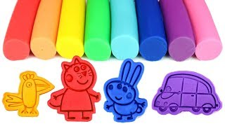 Peppa Pig Play Doh Molds Candy Cat Richard Rabbit George Peppa