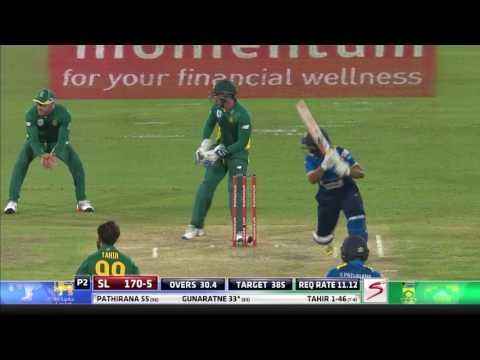South Africa vs Sri Lanka - 5th ODI - SL Innings Highlights