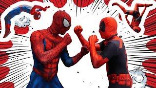 SPIDER-MAN vs DEADPOOL FLIP BATTLE IN REAL LIFE