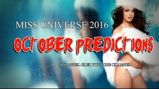 Miss Universe 2016 - October Predictions