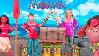 MOANA Disney Assistant and Batboy Search Maui Fishhook Surprise oy Freaks Video