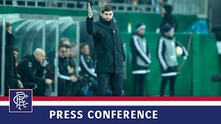 PRESS CONFERENCE | Steven Gerrard | Rapid Vienna 1-0 Rangers