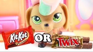 LPS -  KIT KAT OR TWIX?? YUM!!  Would You Rather Challenge 13