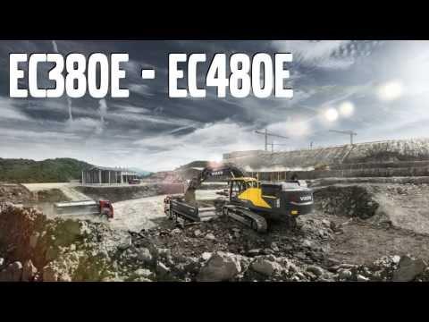 Volvo EC380E-EC480E Crawler Excavators promotional video