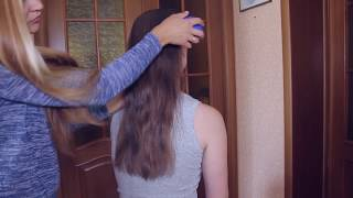 АСМР - ASMR Haircut | Hair Brushing | Scissor Sounds, Spray Bottle & Brush