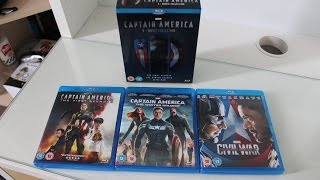 Captain America Trilogy/Captain America: 3-Movie Collection Unboxing (Blu-ray)