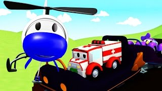 The Car Patrol: Fire Truck and Police Car in the Roller Coaster Danger in Car City | Cars cartoon