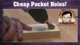 CHEAP pocket-hole ideas for those who can't afford the expensive Kreg jigs!