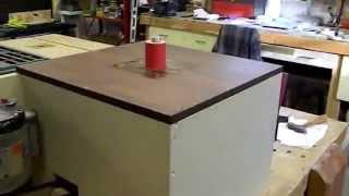 Shop made oscillating spindle sander #2