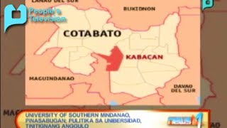 University of Southern Mindanao, pinasabugan; Pulitika sa unibersidad, tinitignang anggulo