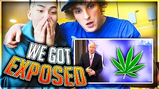 News Reporter EXPOSED us on LIVE TV.... (FT. Logan Paul)