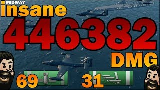 THE NEW RECORD ✖️ 446382 DMG ✖️ USS MIDWAY    World of Warships