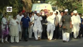 Funeral Of Mother Of Bindu Dara Singh