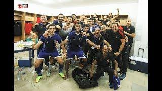 فرحة لاعبي الأهلي بعد الفوز على الترجي التونسي ٢-١