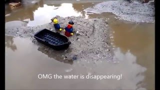 Lego sea turns into quicksand beach! Fishing gone wrong...