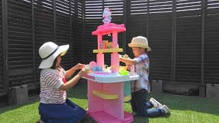 Hello Kitty Kitchen Toy キティちゃん おもちゃ システムキッチン お料理したよ♡