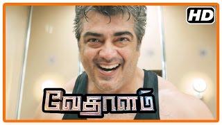 Vedalam Tamil Movie   Scenes   Ajith's true identity revealed   Ajith kills Aniket and his gang