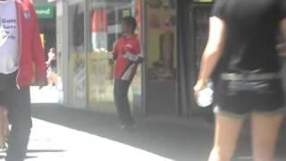 Drunken Aboriginal man dancing to Ke$ha