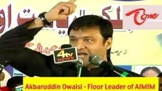 Akbaruddin Owaisi's hate speech at Nirmal, Adilabad Dist - Full Length Video