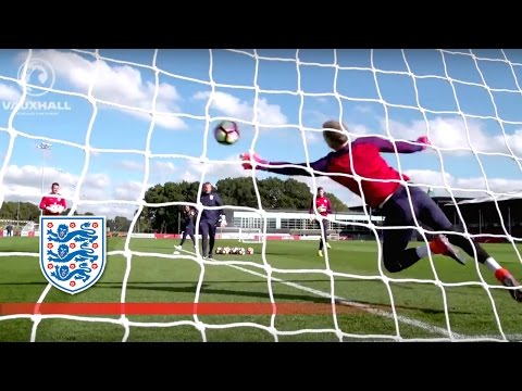 Goalkeeper training session for World Cup Qualifier (Hart, Forster, Heaton)   Inside Training