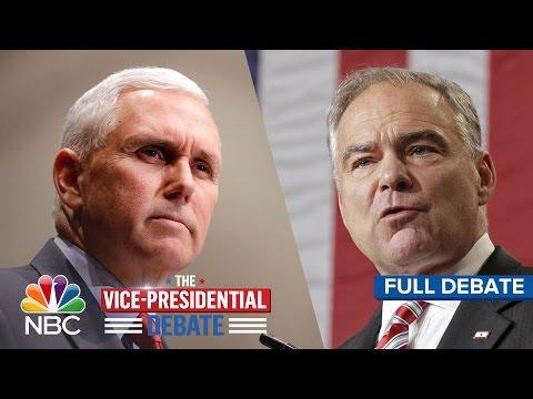 The Vice-Presidential Debate: Tim Kaine And Mike Pence (Full Debate)   NBC News