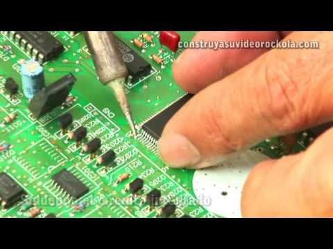 Como cambiar un circuito integrado de superficie SMD