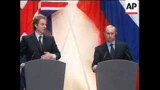 UK: LONDON: PRESIDENT PUTIN DEFENDS WAR IN CHECHNYA