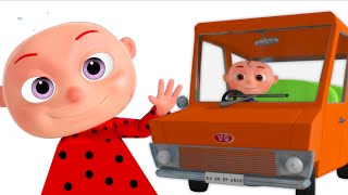 Five Little Babies Driving a Car | 5 Little Babies | Nursery Rhymes & Kids Songs By Videogyan