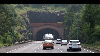 Outstanding Visuals Of Mumbai Pune Expressway Onboard Volvo Bus (Magnificient Tunnels, Greenery Etc)