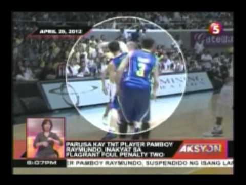 Parusa kay TNT player Pamboy Raymundo inaakyat sa plagrant foul penalty two