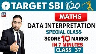 SBI Clerk Prelims 2018 | Data Interpretation | Maths | Live At 10 am | Class - 37