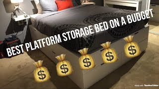 Ikea Hack ( Platform bed with 12 DRAWERS)