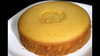 sponge cake without oven - basic plain vanilla sponge cake - sponge cake recipe in pressure cooker