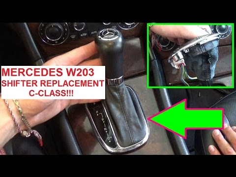 Mercedes w203 Shifter Shifting Knob Removal and Replacement! C180 C200 C220 C230 C240 C270 C280 C320