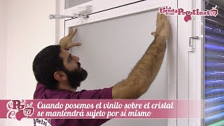 Como pegar un vinilo en cristales y ventanas