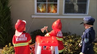 Little Tikes Cozy Coupe Fire Engine Puts Out Fire