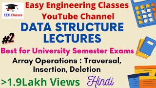 Array Operations – Traversal, Inserting Data and Deleting Data from Array in Hindi and English