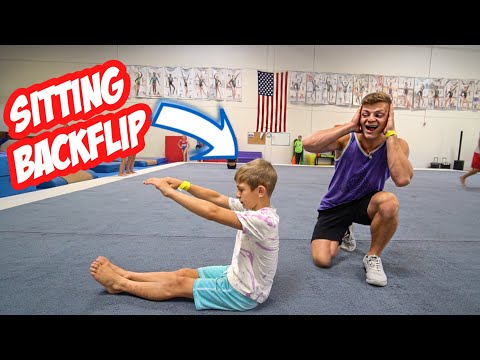 8 YEAR OLD TAUGHT ME A SITTING BACKFLIP INSANE
