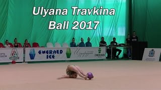 Ulyana Travkina Ball / Russian young extremely flexible rhythmic gymnast