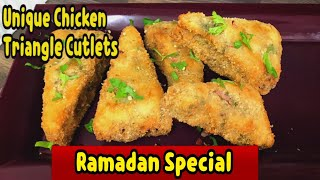 Unique Triangle Chicken Cutlets/Totally Different Method You Must Watch This Video Yasmin's Cooking