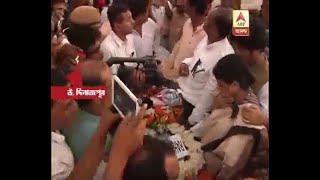 Thousands pay last respects to Priya Ranjan Dasmunsi in Kaliaganj in North Dinajpur distri