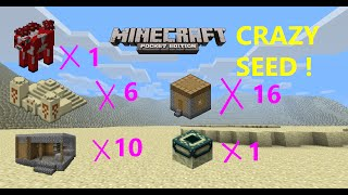 [MCPE 1.2.5] OMG ! 16 VILLAGES 6 TEMPLES 10 BLACKSMITHS STRONGHOLD IN 1 SEED !