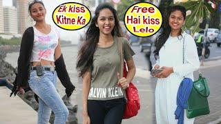 Hot girl asking Ek Kiss Kitne ka | Isme Tera Ghata Girl Video | Prank on Cute Girl | Prank in BRbhai