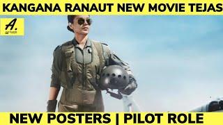 Kangana ranaut new movie Tejas firs look teaser | Kangana Ranaut  New movie | Tejas |aman on movies