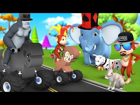 Animal Toy Cars Race Funny Animals Videos Animals Cartoons Animals Racing Videos