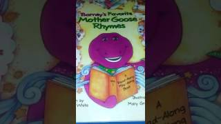 """""""Barney's Favorite Mother Goose Rhymes""""  One, Two, Buckle My Shoe  Read-aloud Children"""
