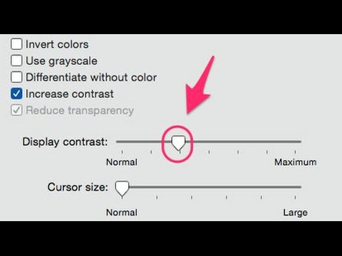 How to adjust the Contrast of you Macs display other display settings.