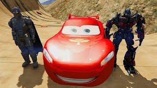 Şimşek McQueen Batman ve Robot Optimus Prime ile Subaru Testinde (Çizgi Film Tadında-Türkçe Dublaj)